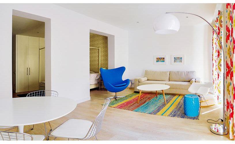 Salon en apartamento un dormitorio 1 urbanvida la latina3